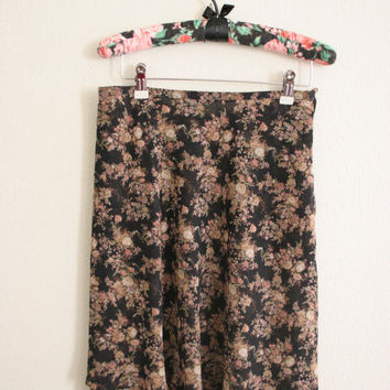 Vintage Express sheer floral print mini skirt