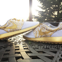 HAND PAINTED Custom Nike Roshe Run Royalty