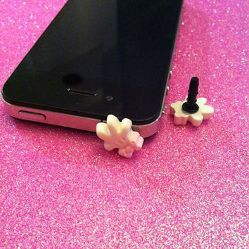 Minnie Mouse Glove Ear Jack Plug for iPhones by JMxSweets on Etsy