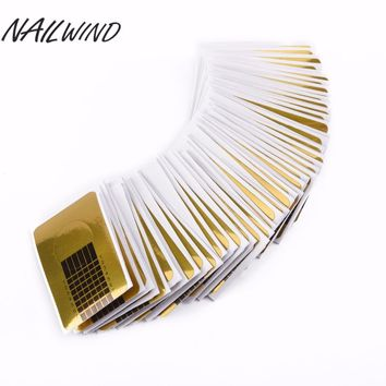 NAILWIND 100PCS Gold Nail Guide Sticker Tape Nail Art Sculpting Extension Nails Forms Guide Stickers Adhesive Acrylic UV Gel Tip