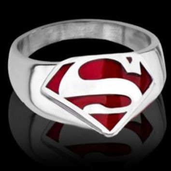 The Avengers Superman Symbol S Ring