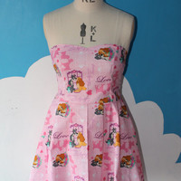 disney lady and the tramp sweet heart dress - all sizes