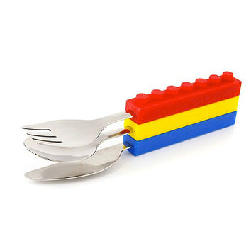 Brick Shape Stackable Cutlery (Set of 3)