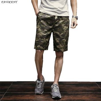 Japanese retro summer camouflage knee-length men's trousers leisure big yards pants tide students beach pants plus size