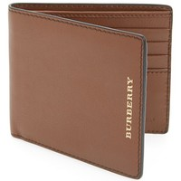 Men's Burberry Grainy Leather Folding Wallet