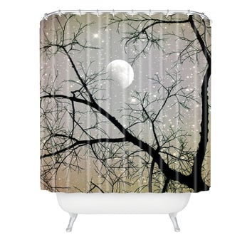 Shannon Clark Silver Sky Shower Curtain