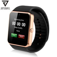 JAYSDAREL Smart Watch GT08 Clock Sync Notifier Support Sim Card Bluetooth NFC Connectivity Android IOS iPhone PK DZ09 GV18