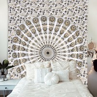 The Suzi Tan Black Mandala Boho Tapestry