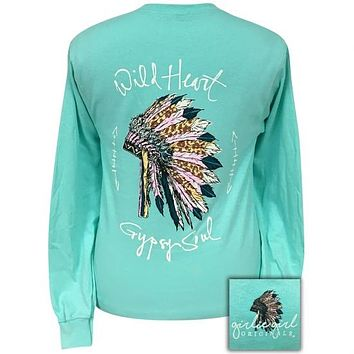 Girlie Girl Originals Preppy Wild Heart Gypsy Soul Long Sleeve T-Shirt