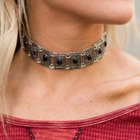 Chainmail Metal Choker Necklace