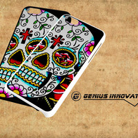 Sugar Skull Flowers Samsung Galaxy S3 S4 S5 Note 3 , iPhone 4(S) 5(S) 5c 6 Plus , iPod 4 5 case
