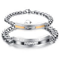 Carefully Selected Gift Couple Titanium Steel Bracelet = 1930166596