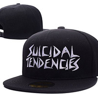 HAIHONG Suicidal Tendencies Band Logo Adjustable Snapback Embroidery Hats Caps - Black
