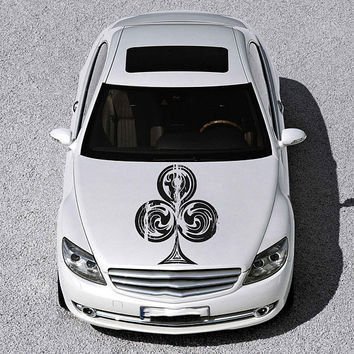 playing cards car hood decal playing cards Car Decals cards Car Truck playing cards Side Body Graphics Decal Sticker for car ikcar89