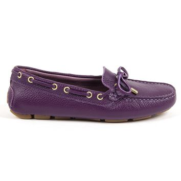 Andrew Charles Womens Loafer Purple Sunday