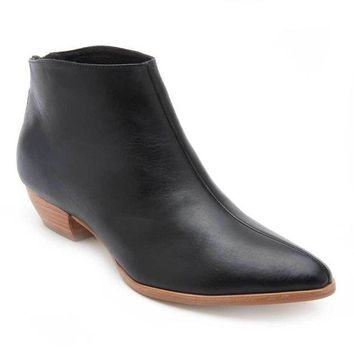 MDIGYW3 Coconuts by Matisse Aida Black Leather Ankle Booties