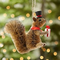 Bottlebrush Gifting Squirrel Ornament