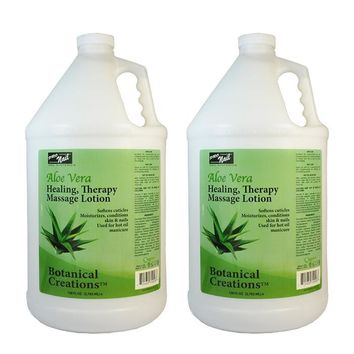 ProNail Aloe Vera Healing, Therapy Massage Lotion 1 Gallon (Pack of 2)