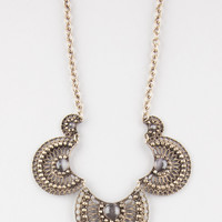Full Tilt 5 Piece Scalloped Stone Necklace Antique Gold One Size For Women 27369862301
