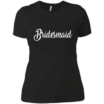 Bridesmaid Shirt White Wedding Bride Bridal Bachelorette
