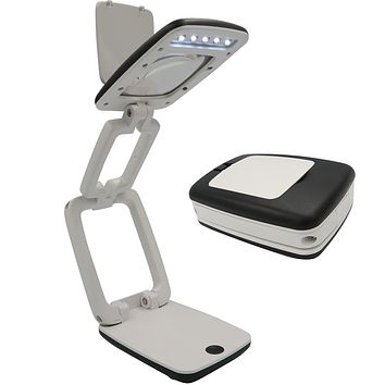 Evelots Desk Light-LED-Foldable-3X Magnifying Glass-Easy Carry-2 Settings