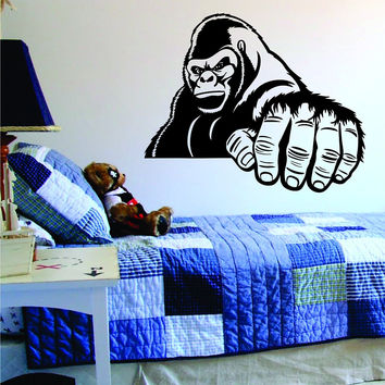 Gorilla Hand Animal Design Monkey Decal Sticker Wall Vinyl Decor Art