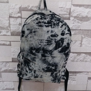 Handmade -Tie Dye Bag, Batik Backpack, Corduroy Backpack, Tie Dye Backpack, Travel Bag, Bohemian Backpack, Black, White, Hippie Bag, Boho