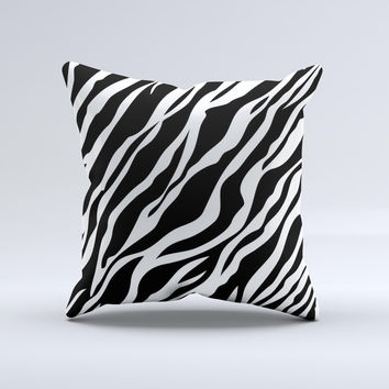 Simple Vector Zebra Animal Print Ink-Fuzed Decorative Throw Pillow