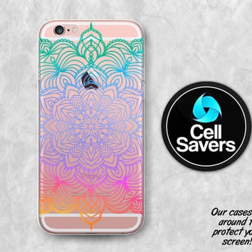 Rainbow Mandala Clear iPhone 6s Case iPhone 6 Case iPhone 6 Plus Case  iPhone 6s Plus 71a8b23cafe6