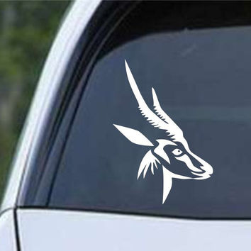 Antelope Head Hunting Die Cut Vinyl Decal Sticker