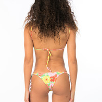 Lolli Swim Hugs Cheeky Floral Bikini Bottom- Flower Bomb