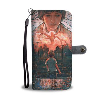 KUYOU Will Byers And The Mind Flayer Stranger Things Wallet Phone Case