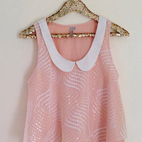 Charming Beaded Bib Top
