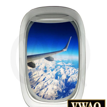 Aircraft Decals Airplane Wing Mountain View Peel and Stick Wall Decor VWAQ-PW20