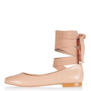 KUTE Ballet Ankle Tie Flats - View All Shoes - Shoes