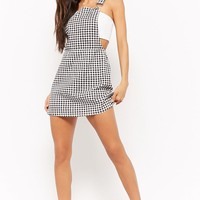 Houndstooth Denim Overall Dress