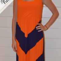 Orange and Purple Chevron Punch