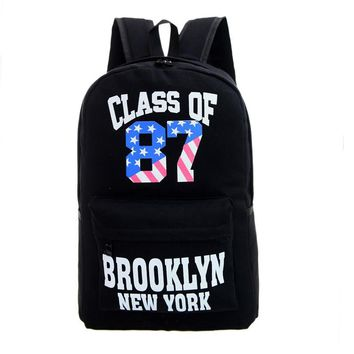 Fashion Pure color canvas travel backpack large capacity candy color bag computer bag