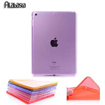Alabasta Brand For iPad 2/3/4/5/6 Air 12 TPU Soft Full Protect Transparent Case for iPad Mini 12/3/4 Shell Back Case  Skin Cover