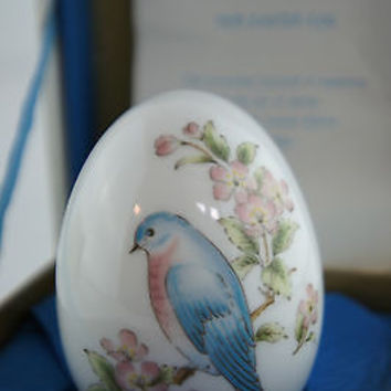 Vintage 1979 Easter Egg Noritake Limited Edition Bluebird 9th in Series