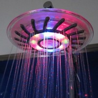 Romantic 4 Mixed-color LED Shower Head Bathroom Sprinkler:Amazon:Home Improvement