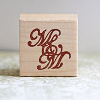 Hand Carved Mounted Monogram Stamp