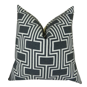 Plutus Conduit Espresso Handmade Throw Pillow