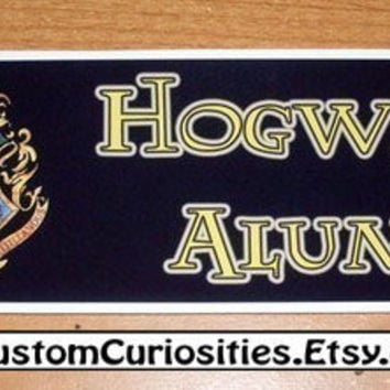 Hogwarts Alumni crest sticker by CustomCuriosities on Etsy