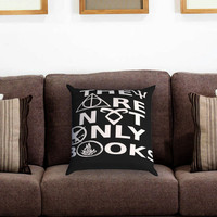 They Are Not Only Books 2 Pillow Cover , Custom Zippered Pillow Case One Side Two Sides
