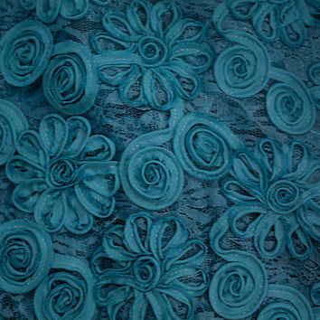 David Tutera™ Embroidered Lace Fabric-New Teal | Jo-Ann