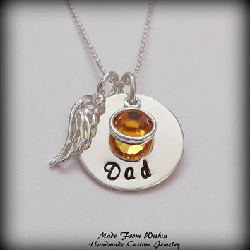 Memorial Necklace Remembrance Necklace Memorial by MadeFromWithin