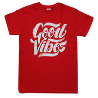Good Vibes Vintage Red T-shirt S - 2XL