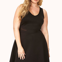 FOREVER 21 PLUS Subtle Glam Scuba Knit Dress Black 3X