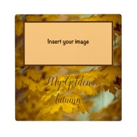 Yellow autumn maple leaves. Add you text and photo Plaque